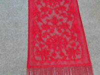 Red Lace Lori Design Table Runner 84 X 14