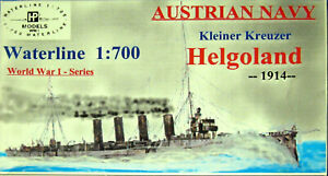 HP Models 1:700 Waterline    Linienschiff Helgoland 1916 als  Resin-Bausatz