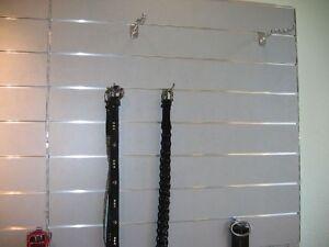 lamellenwand lamellenw nde mdf wand paneele silber grau ebay. Black Bedroom Furniture Sets. Home Design Ideas