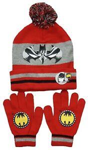 Gloves /& Scarf Set Kids Winter 3 piece Hat Set Blue Age 3-8 Years Children Batman Hat