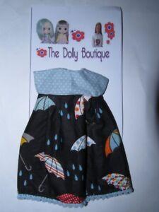 """""""parapluies"""" Robe Pour Mary Quant Daisy Disco Girls Blythe Makies Poupées-afficher Le Titre D'origine"""