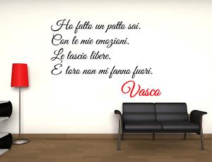 Adesivo Vasco Rossi Ho fatto un patto con le mie emozioni murale wall sticker