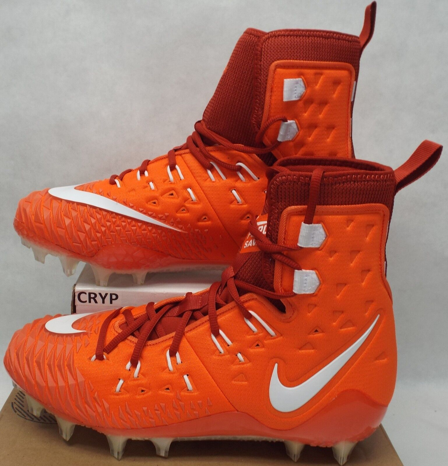 New Mens 10 NIKE Force Savage Elite Pro orange White Cleats shoes 139 857063-816