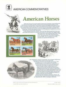 249-22c-Horses-2155-2158-USPS-Commemorative-Stamp-Panel