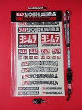 "YOSHIMURA 12"" X 19"" DECAL STICKER SHEET, LANYARD, RS-4 KEYCHAIN, & LOGO KEY FOB!"