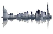 Metal City Art Dubai Reflection Skyline Wall Sculpture Decor by Ash Carl