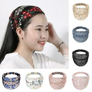 HO-Women-Girls-Flower-Wide-Headband-Elastic-Hair-Band-Stretch-Turban-Headwrap-E