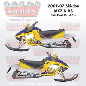 2003-07 Ski-doo MXZ X RS Rev Reproduction Side Panel Vinyl Decals 8 Pieces