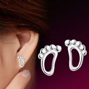 Trace-Fashion-Women-Accessories-Footprints-Earrings-Korea-Stud-Jewelry-Charm-AU