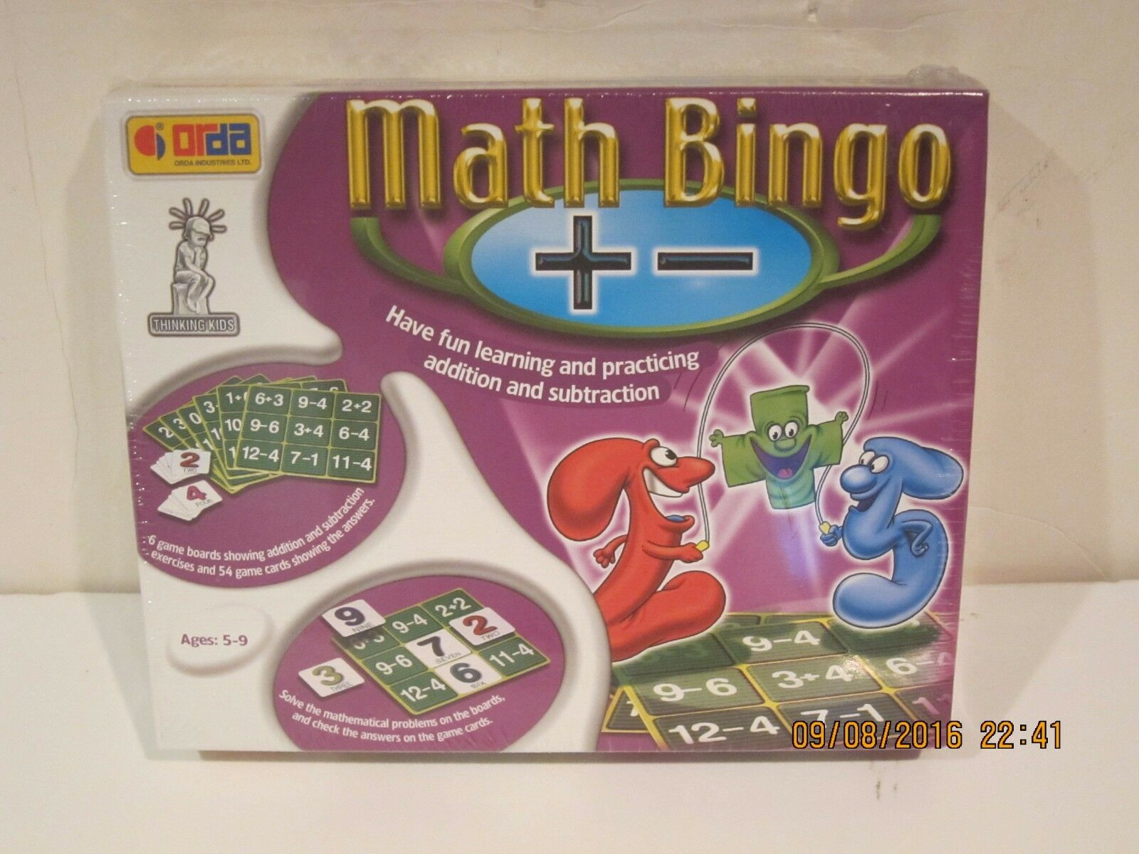 Orda Math Bingo Addition och subtraktion NY SEALD ICKE FAST SPANG -RARE