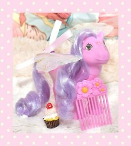 My-Little-Pony-MLP-G1-Vintage-FLUTTER-PONY-Purple-Lily-with-Wings-amp-Comb