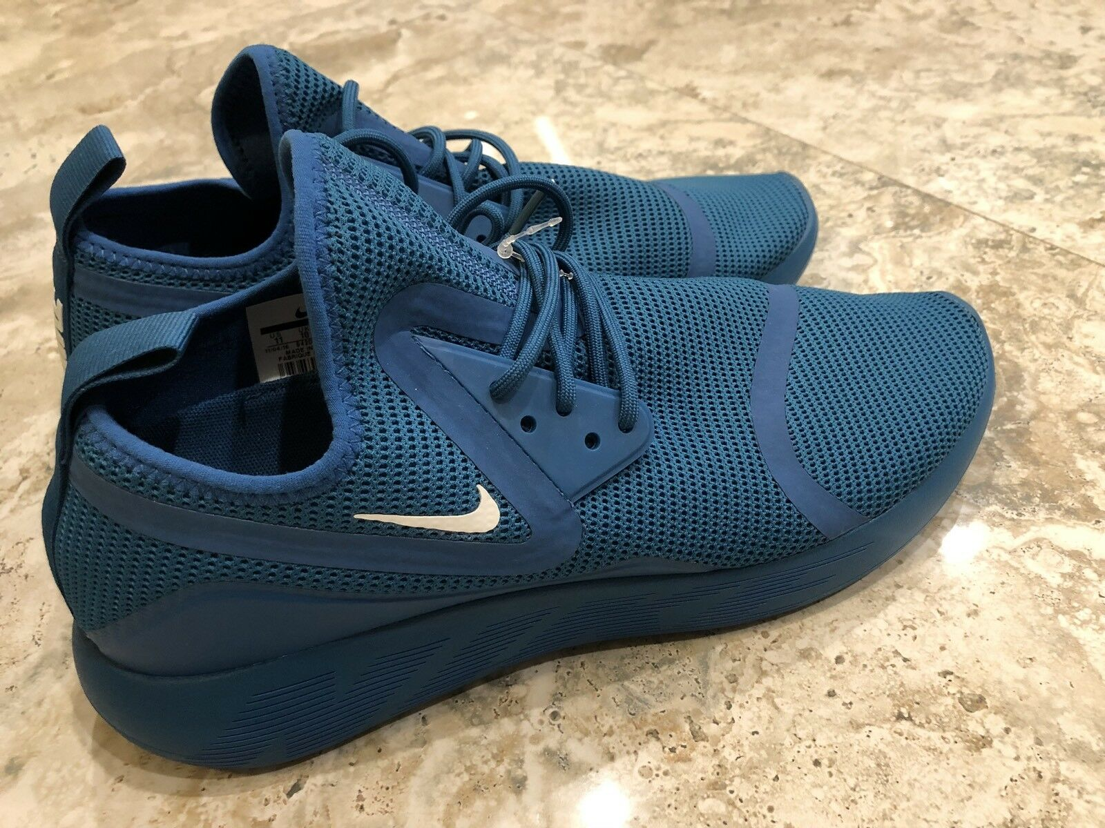 Nike Lunarcharge Breathe Industrial Blue White Mens Running Athletic Shoe Sz 11