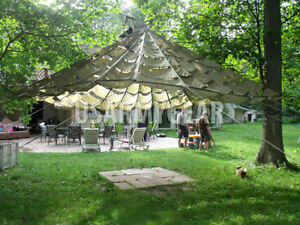 Image is loading US-Parachute-Party-Tent-Garden-Canopy-Sun-Shade- & US Parachute Party Tent Garden Canopy Sun Shade Gazebo Wedding ...