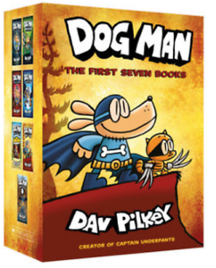 NEW Dog Man First 7 Books Collection Gift Library Boxed Set Kids Gift Dav Pilkey