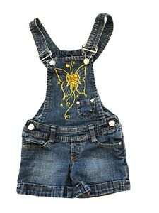 2B-Real-Toddler-Girl-Size-3T-Blue-Denim-Overall-Shorts