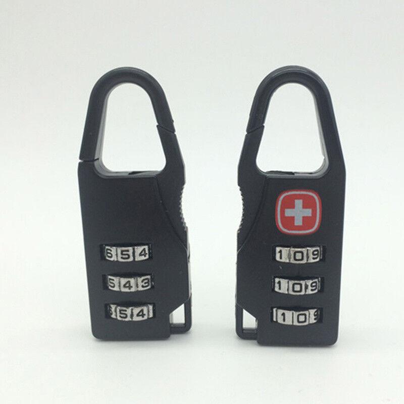 1 2 4 PCS 3 Chiffres Combinaison Combinaison Combinaison Cadenas Noir Nombre bagage voyage Code serrure UK 5b6c36