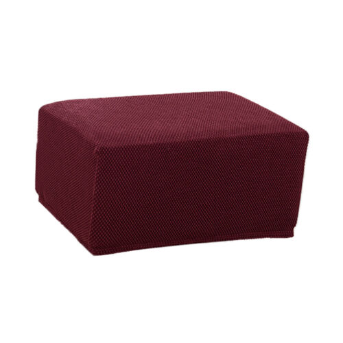 Stretch Fabric Ottoman Cover Foot Rest Stool Slipcover Easy Fitted Universal