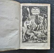 AUDIN: Fables héroïques, 1648, 30 fables illustrées de 30 gravures, édition orig