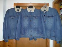 Old Navy Men's Warm Lined Jean Jackets 2xl,lg,blue Button Front 2 Side Pockets