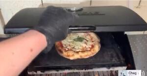 PIASTRA LAVICA BBQ BARBECUE PIZZA PIETRA REFRATTARIA OLLARE DELL' ETNA 40X35X3