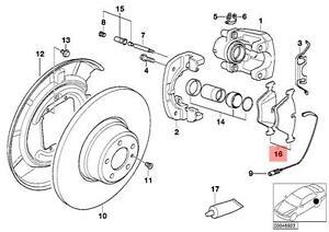 genuine bmw 7 series e38 m60 m62 m73 rear brake pads pad set oem 1990 750iL V12 image is loading genuine bmw 7 series e38 m60 m62 m73