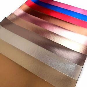 Shiny-Gloss-Fine-Leather-Effect-A4-Sheets-Quality-Leatherette-Metallic-Colours
