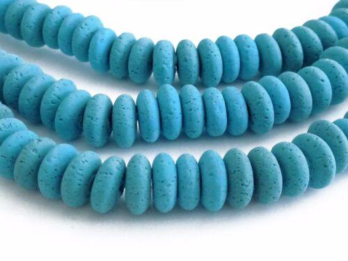Environ 105 perles polymère clay environ 8x3-4mm Azur Bleu de travail manuel Nenad-Design s75