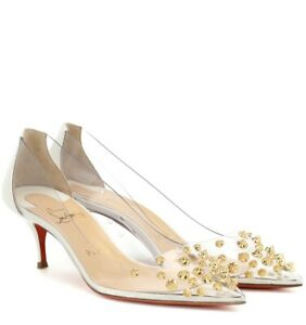 36 Gold Studded Kitten Heels