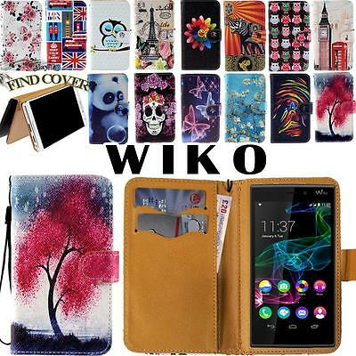 Flip Folio Card Wallet Stand Leather Cover Case For Various Wiko Smartphone