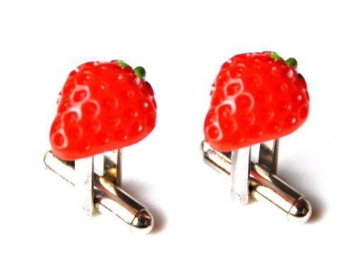Strawberry Cufflinks