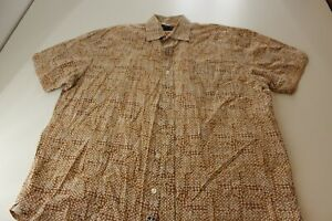 Nat-Nast-Ctn-Geometric-Artwork-Like-It-Hot-Button-Up-Shirt-Large-L