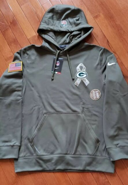 Nike Green Bay Packers Men s Salute to Service Performance Hoodie -MED e41f5846f