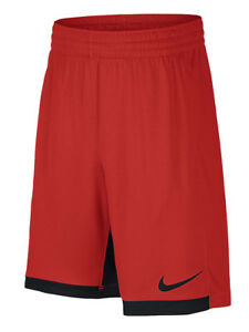Nike Boys Dri-Fit Trophy Training Shorts w/Pockets Red/Black New