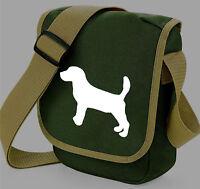 Cute Dog Silhouette Messenger Bag Beagle - type Shoulder Bags Birthday Xmas Gift