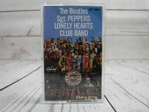Vintage-Cassette-Tape-THE-BEATLES-Sgt-Peppers-Lonely-Hearts-Club-Band-4XT-2653