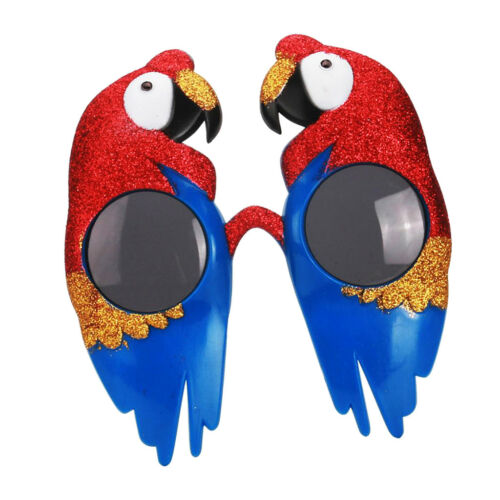 Birthday Glitter Red Blue Parrot Bird Macaw Party Glasses Cosplay Photo Prop