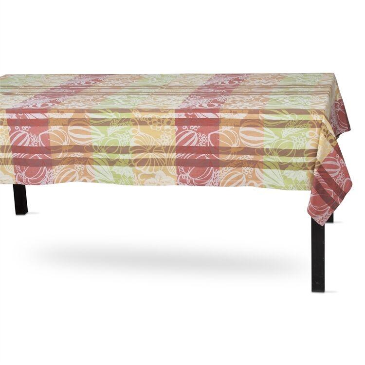TAG Harvest Jacquard Cotton Tablecloth, 60  x 60  (204827)