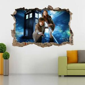 Image Is Loading Doctor Dr Who Tardis 3D Smashed Wall Sticker