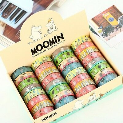 MOOMIN WASHI TAPE/PAPER TAPE/MASKING TAPE/DECOR TAPE/DIY SCRAPBOOK/KIDS GIFT  #B