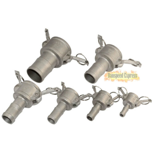 """3//4/"""" C Trash Pump Adapter Female Camlock x Hose Barb SS 316 Stainless Steel NEW"""