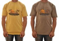 REGATTA MENS SEABOARD SHORT SLEEVE COTTON T SHIRT YELLOW or KHAKI MS328