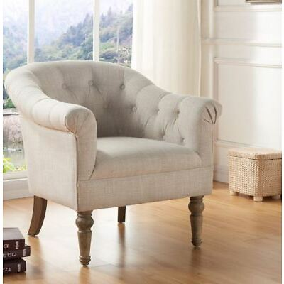 """""""Welbeck"""" Accent Chair Tufted Bucket Roll Arm in 3 Fabrics Colours Upholstered"""