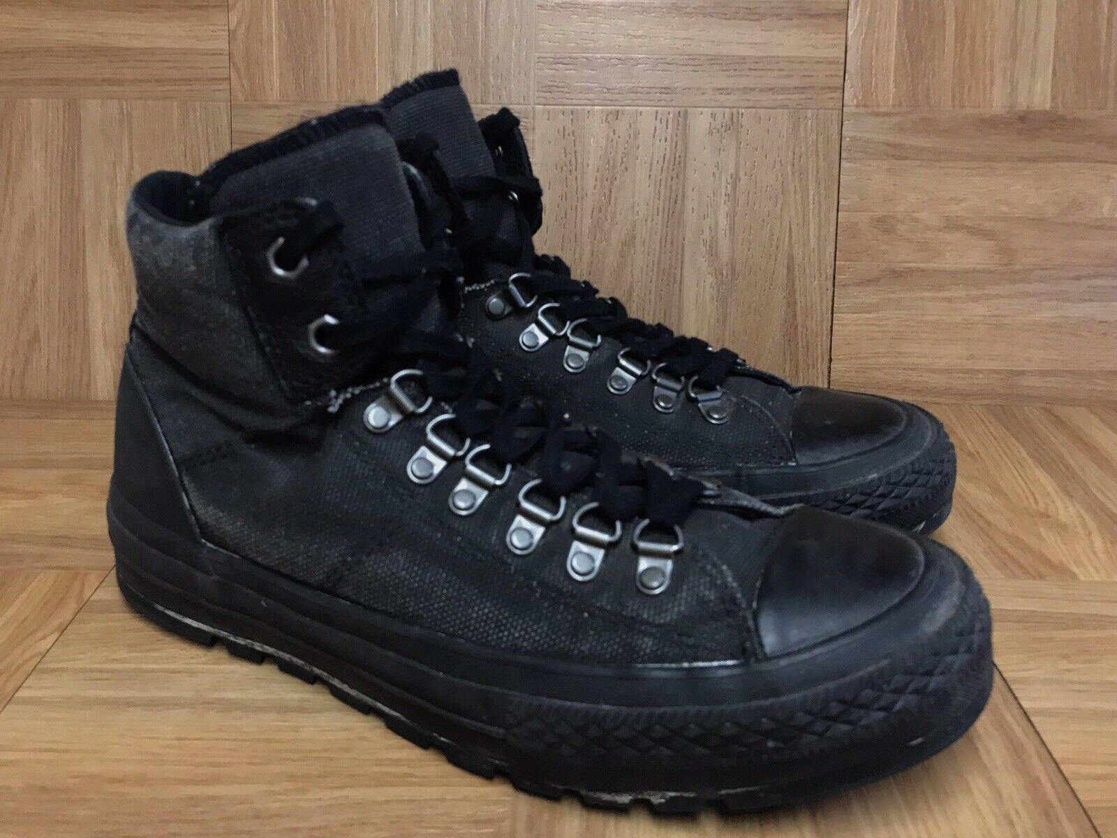 RARE  Converse All Star CT Street City Hiker Noir Sz 9 Chaussures Hommes 149381 C