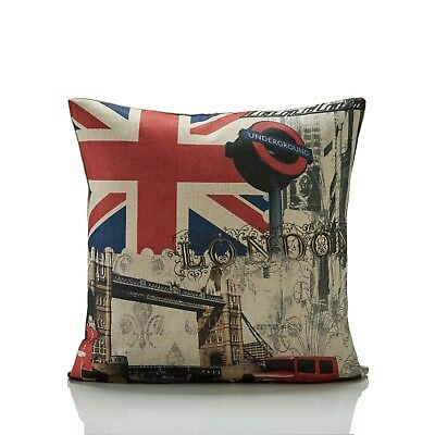 """London Bus Picture print 17/""""x17/"""" Filled Cushion.100/% polyester machine washable"""