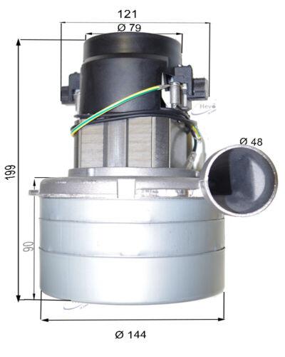 Staubsaugermotor 230 V 1500 W Sorma Kobra 6075 K z.B baugleich mit 117123-00
