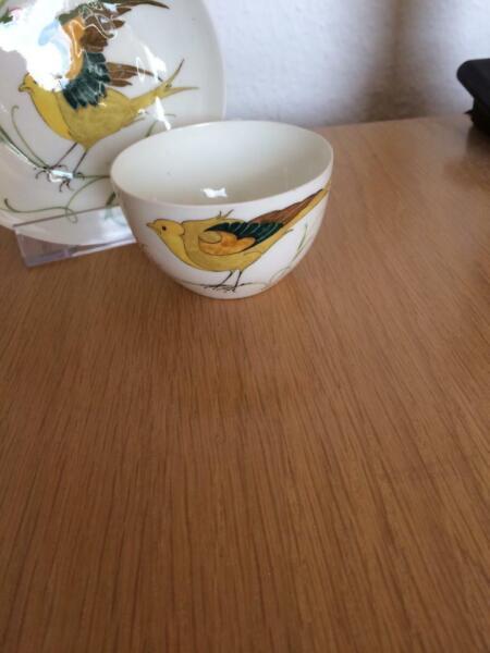2 Tassen Incl. Untertassen Rozenburg/holland Eierschalenporzellan Sehr Selten Um