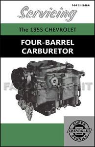 1955 chevy 4 bbl carburetor service manual carter wcfb bel air 150 rh ebay com keihin carburetor service manual stihl carburetor service manual pdf