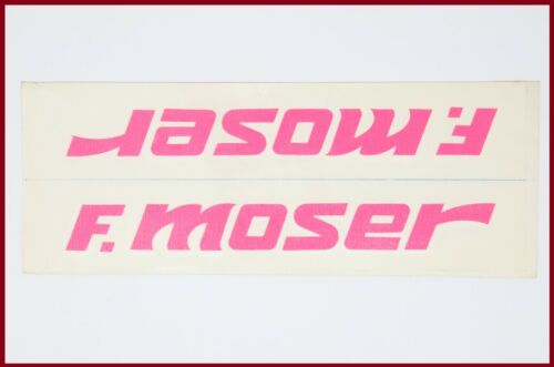 NOS ORIGINAL MOSER LEADER AX DECAL 80S 90S VINTAGE PINK