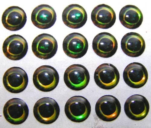 MOON 3D EYES // AUGEN Preis p. Stk. € 0,174 10 mm 20 Y SELF ADHESIVE EYES