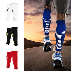 Pair-Calf-Support-Graduated-Compression-Leg-Sleeve-Sports-Socks-Outdoor-Exercise